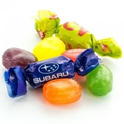 Reklame Bonbon Organic Double Twist med dit firmas Logo.