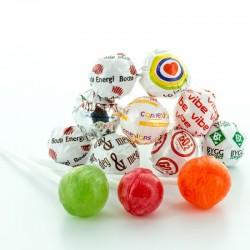 Reklame Runde Slikkepinde - Sukkerfri