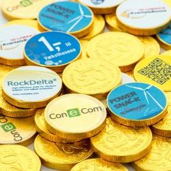 Chokolade Guldmønter med dit firmas logo