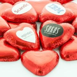 Chokolade Hjerter med dit firmas logo