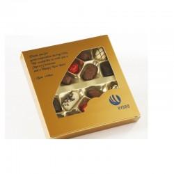Belgiske Praliner, 225 gram, Hotfoil med dit firmas logo