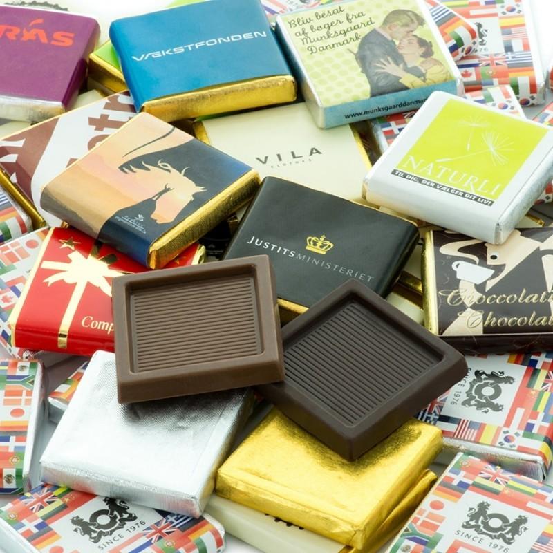 Neapolitan Chokolade Firkanter
