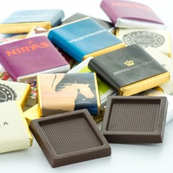 Neapolitan Chokolade Firkanter med dit logo