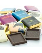 Chokolade med firmareklame - Firmabolsjer.dk - Chokolade med logo!