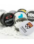 Mintpastiller med logo - Firmabolsjer.dk - Perfekt til reklame!